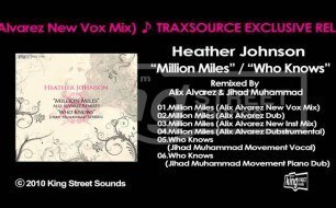 Смотреть музыкальный клип Heather Johnson - Million Miles (Alix Alvarez New Vox Mix)