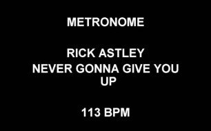 Rick Astley - Never gonna give you up [113bpm]