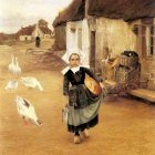 Wallen Gustaf Theodor The Little Goosegirl