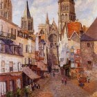 Sunlight, Afternoon, La Rue de lEpicerie, Rouen. (1898)