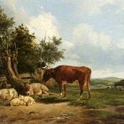Berg Simon Van Den An Extensive Landscape With Cattle Resting