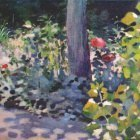 borisov-musatov poppies in a garden 1894