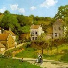 Pissarro The Hermitage at Pontoise, 1867, Solomon R. Guggenh