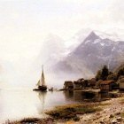 Askevold Anders Monsen Norwegian Fjord With Snow Capped Mountains