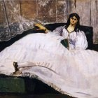 Baudelaires Mistress, Reclining - 1862