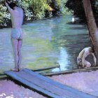 Bather Preparing to Dive, Banks of the Yerres - …
