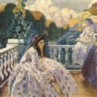 borisov-musatov on the terrace 1903