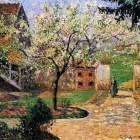 Flowering Plum Tree, Eragny. (1894)