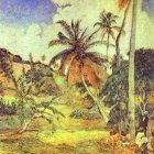 Gauguin - Palm Trees On Martinique