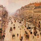 Boulevard Montmartre - Morning, Grey Weather. (1897)