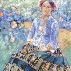 borisov-musatov lady in blue dress 1905
