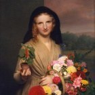 Charles Cromwell Ingham (1796-1863) - The Flower Girl (1846 The Metropolitan Museum of Art)