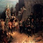 Beckmann Wilhelm The Surrender Of The City Of Rosenberg In The Hussite War