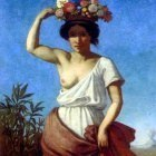 Jernberg August A Pompeiian Beauty Carrying Fruit