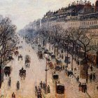 Boulevard Montmartre - Winter Morning. (1897)