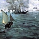 Battle of the Kearsarge and the Alabama - 1864