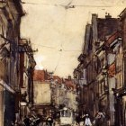 Arntzenius Floris A Busy Street The Hague
