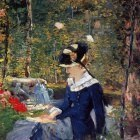 Young Woman in the Garden - 1880