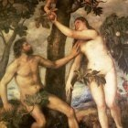 Titian The fall of man 1565 70