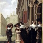 DELEN Dirck van Conversation outside a Castle