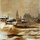 Effect of Snow at Petit-Montrouge - 1870