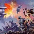 06 Daruma!  Frank Frazetta  Dawn Attack