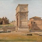 The Arch of Titus in Rome. (1839)