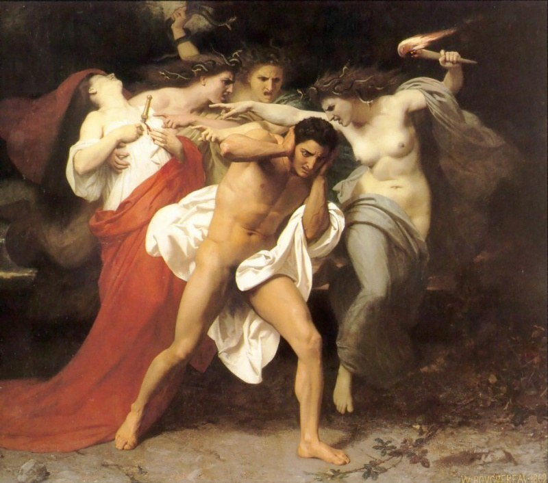 the common theme in the characters of orestes the furies croesus and cyrus