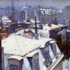Caillebotte Gustave Snow covered roofs in Paris Su…