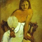 Gauguin - Girl With A Fan
