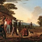 George Caleb Bingham (1811-1879) - Shooting for the Beef (1850 Brooklyn Museum)
