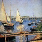 Caillebotte Gustave Sailing boats at Argentueil Su…