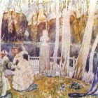 borisov-musatov spring tale (sketch for a panel) 1904-5