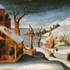 Winter Landscape with the Angel Appearing to Saint Joseph, the Massacre of the Innocents, and the Flight into Egypt