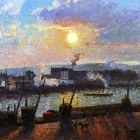Sunset, Rouen. (1898)