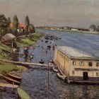 Boathouse in Argenteuil - 1886-1887