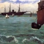 Fishing Boat Coming in Before the Wind - 1864