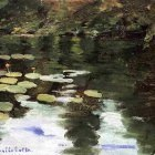 Yerres, on the Pond, Water Lilies