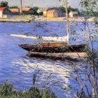 Anchored Boat on the Seine at Argenteuil - 1888
