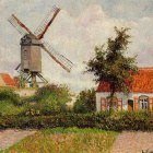 Windmill at Knocke, Belgium. (1894)