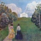 borisov-musatov in the light of the setting sun 1904