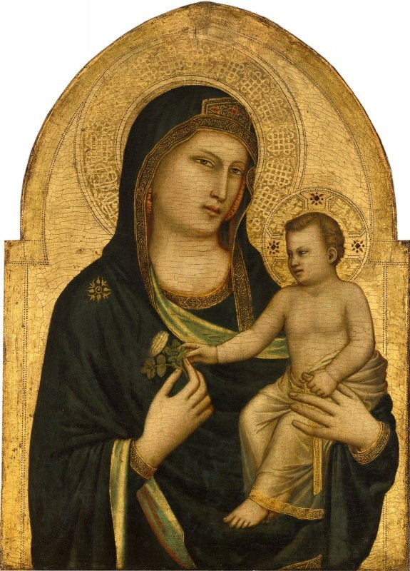 cimabue vs giotto di bondone Giotto di bondone madonna enthroned from the church of ognissanti, florence 1310 bce tempura and gold leaf on wood florentine school giotto revived classical naturalism.