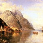 Askevold Anders Monsen Village On A Fjord