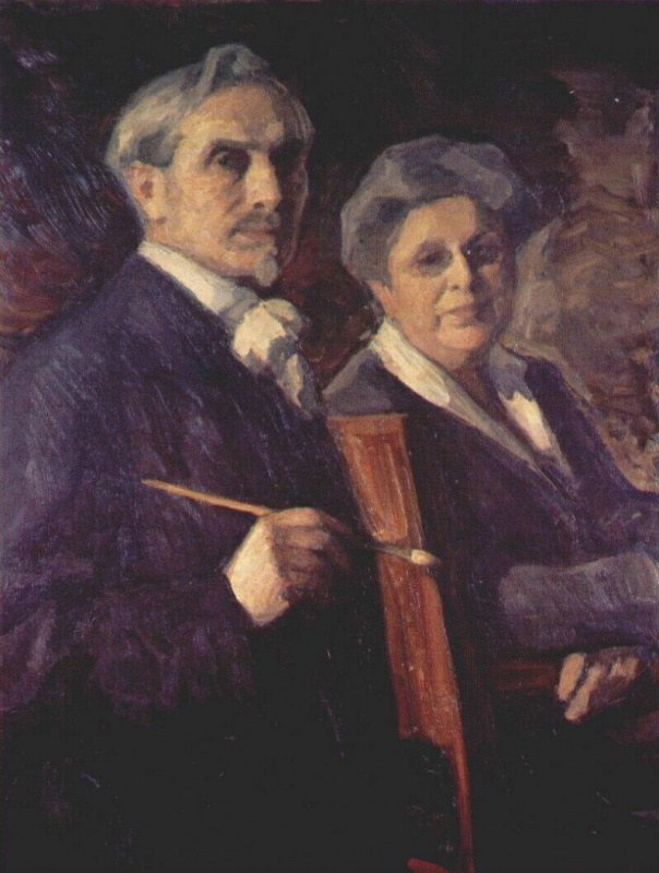 pasternak double portrait of the artist and his wife