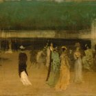 James McNeill Whistler (1834-1903) - Cremorne Gardens, No. 2 (1872-77 The Metropolitan Museum of Art)