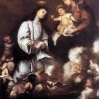 ANTOLINEZ Jose St Rose Of Lima Before The Madonna