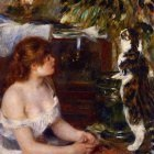 Girl and Cat - 1881 -1882