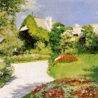 Caillebotte Gustave Farmers house in Trouville Sun