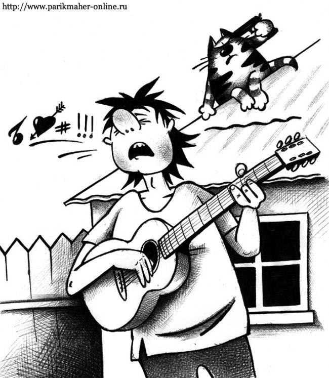 Прикольные рисунки гитары удалось прославиться