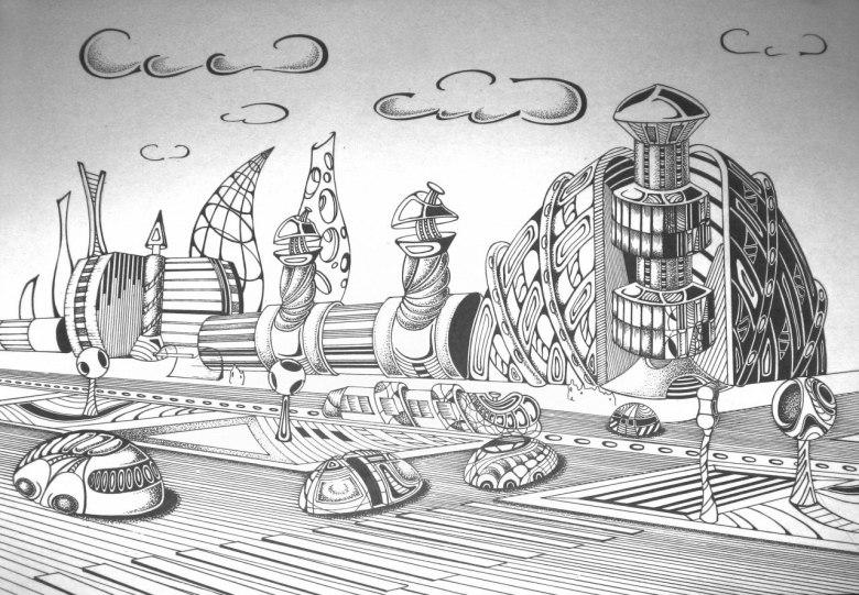 картинки и рисунки город будущего
